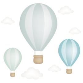 hőlégballonos falmatrica