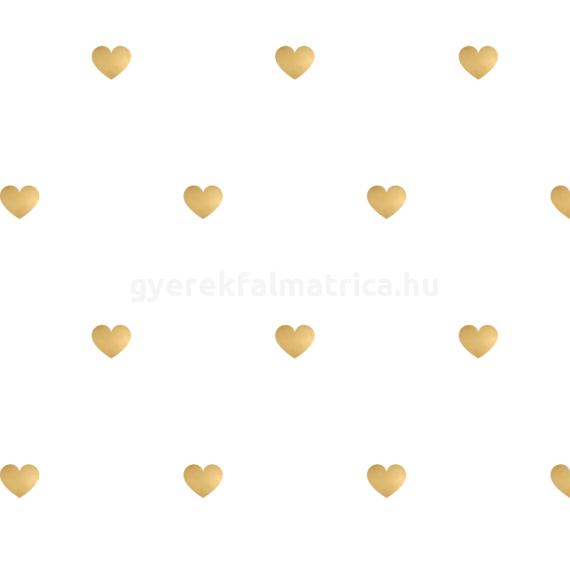 arany szív falmatrica