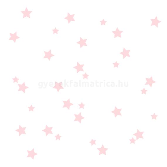 rózsaszín csillagos falmatrica