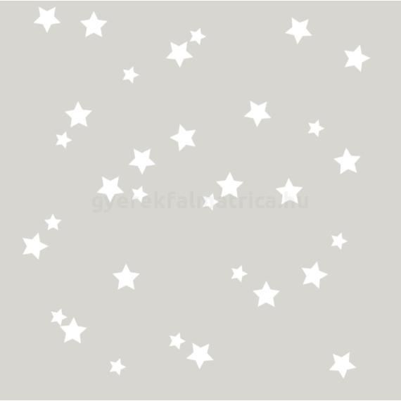 fehér csillagos falmatrica