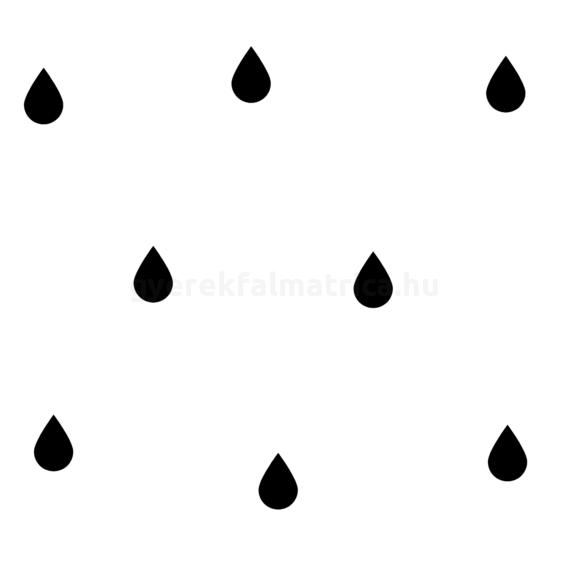 fekete esőcsepp falmatrica