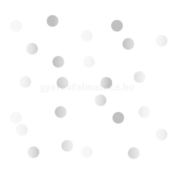 ezüst pöttyös falmatrica