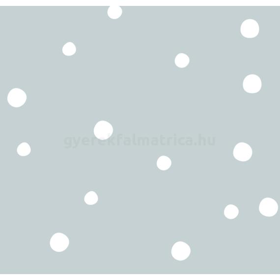 Mini pötty mix falmatrica - fehér