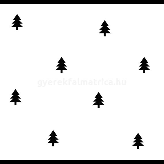 Fenyő falmatrica - fekete