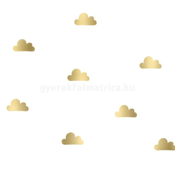 Kis felhő falmatrica - arany