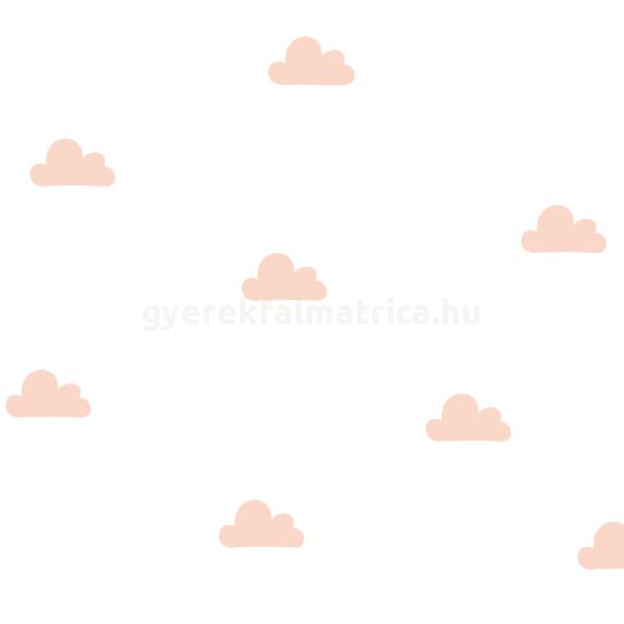 Kis felhő falmatrica - barack