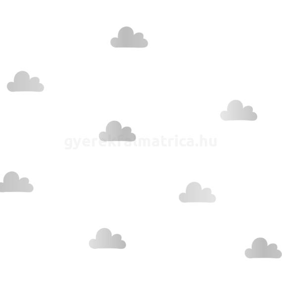 Kis felhő falmatrica - ezüst