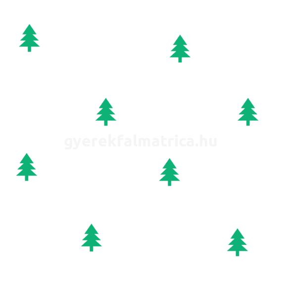 Fenyő falmatrica - zöld