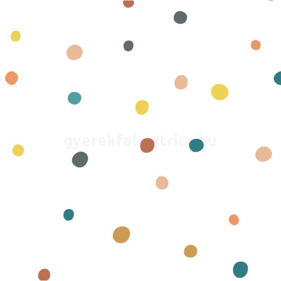 színes pöttyös falmatrica