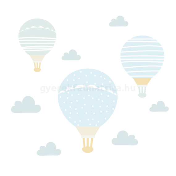kék ballonok falmatrica