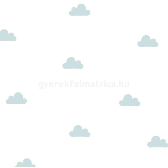 Kis felhő falmatrica - halványkék