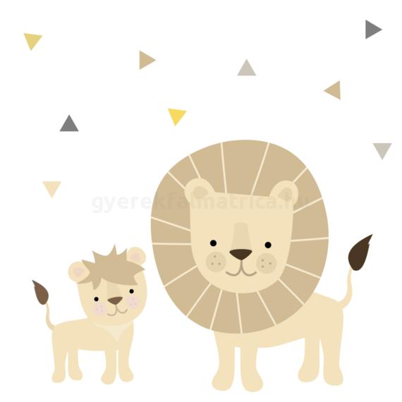 Leo és Leonard oroszlán falmatrica