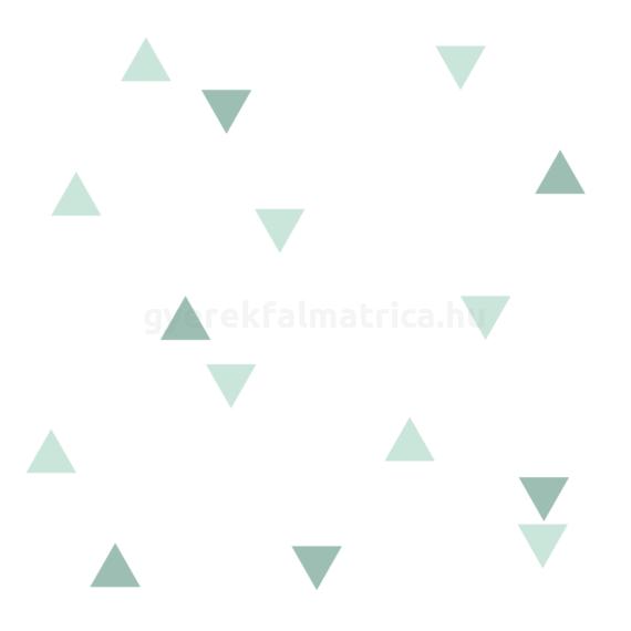 Menta mix háromszögek falmatrica