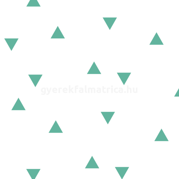 Menta háromszögek falmatrica