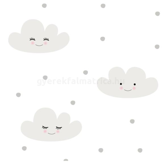 mosolygó felhők falmatrica