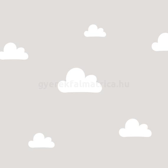 Óriás felhő falmatrica - fehér