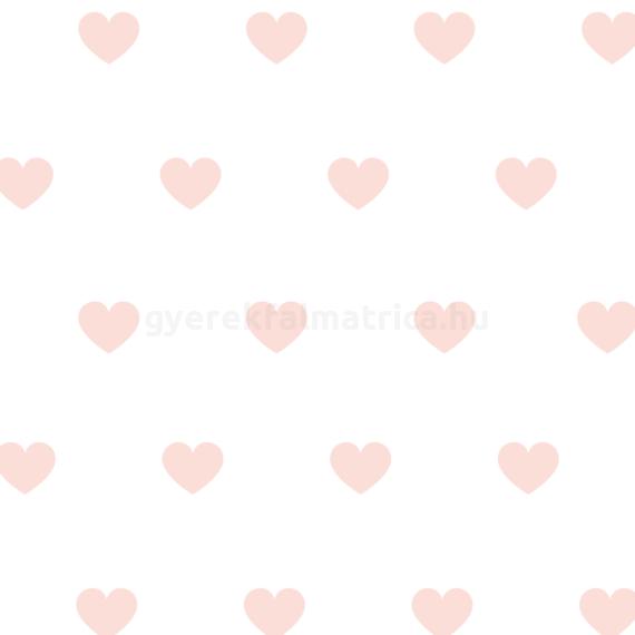 Rózsa szív falmatrica