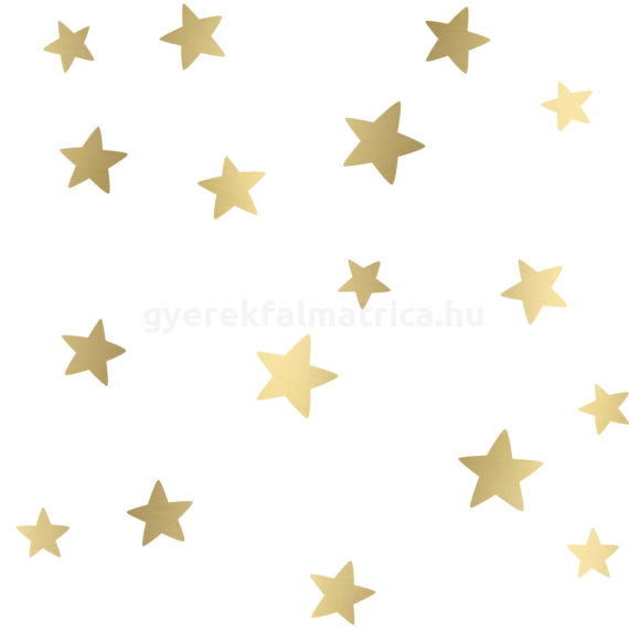 Ragyogó csillagok falmatrica - arany
