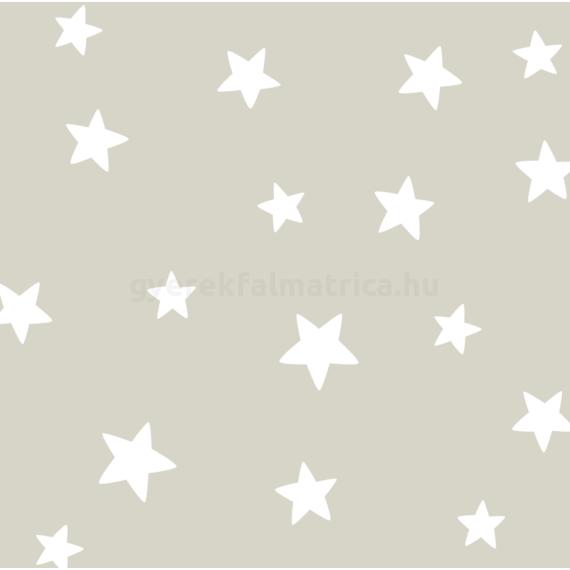 Ragyogó csillagok falmatrica - fehér