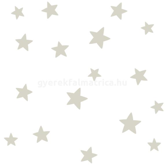 Ragyogó csillagok falmatrica - szürke