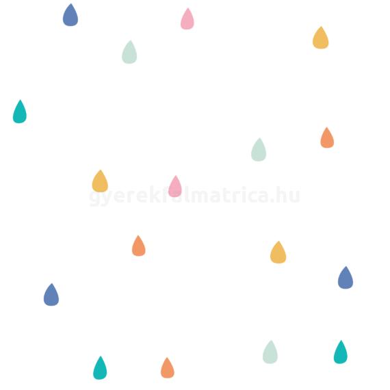 esőcsepp falmatrica