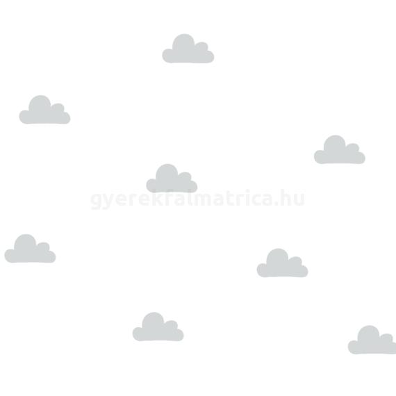 Kis felhő falmatrica - szürke