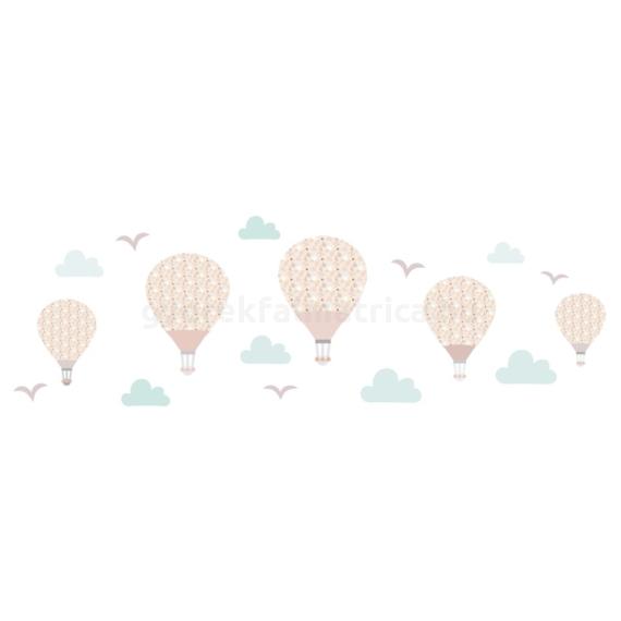 Nagy virágos ballonok falmatrica